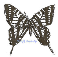Swallowtail Butterfly Wood Mounted Rubber Stamp Northwoods Rubber Stamp New