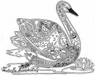 SWAN Animal Spirit Cling Unmounted Rubber Stamp EARTH ART Sue Coccia New