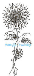 Tall Sunflower, Wood Mounted Rubber Stamp NORTHWOODS - NEW, O7067