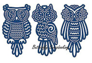 TATTERED LACE BABY OWLS Set Craft Die Cutting Die Tattered Lace Dies D132 New
