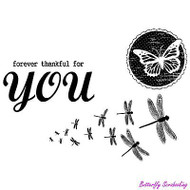 Thankful For You, Cling Style Unmounted Stamp UNITY STAMP, INC. - NEW, IPS-149