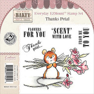 Thanks Petal Mouse Unmounted Rubber Stamps Set MAKEY BAKEY MICE MBM-E-PET-EZ New