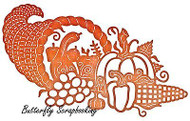 THANKSGIVING Cornucopia Die Steel Die Cutting Die CHEERY LYNN DESIGNS B600 New