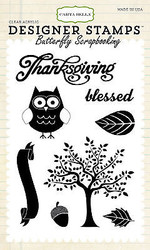 Thanksgiving Owl Tree Clear Unmounted Rubber Stamps Set Carta Bella CBSTAMP3 New