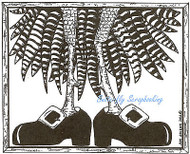 Thanksgiving Turkey Legs Wood Mounted Rubber Stamp Northwoods Rubber Stamp New