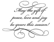 The Gift Of Peace Text, Wood Mounted Rubber Stamp PENNY BLACK - NEW, 4117H