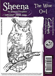 THE WISE OWL Cling Unmounted Rubber Stamp SHEENA DOUGLASS SD-WOWL-IS New