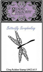 Tiny Dragonfly Cling Unmounted Rubber Stamp Paper Parachute UMCS-617 NEW