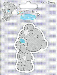 Tiny Tatty Teddy BOY Clear Unmounted Rubber Stamp TRIMCRAFT TTTCS001 New