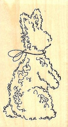 Topiary Bunny, Wood Mounted Rubber Stamp IMPRESSION OBSESSION - NEW, C9695