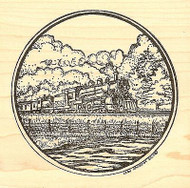 Train In Circle, Wood Mounted Rubber Stamp NORTHWOODS - NEW, PP9796