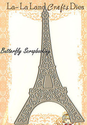 Travel EIFFEL TOWER American made Steel Dies by La La Land Crafts DIE 8001 New