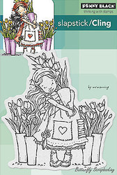 Tulips For You, Cling Style Unmounted Rubber Stamp PENNY BLACK - NEW, 40-293