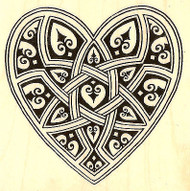 Valentine Gothic Heart Wood Mounted Rubber Stamp STAMPENDOUS Q209 New