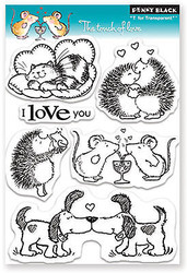 Valentine Touch Of Love Clear Unmounted Rubber Stamp Set PENNY BLACK 30-089 New
