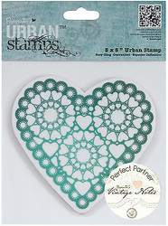 Valentine Vintage Heart Cling Unmounted Rubber Stamp Urban Stamps PMA 907157 NEW