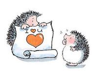 Valentines Day Hedgehog Love Wood Mounted Rubber Stamp PENNY BLACK 2858K New