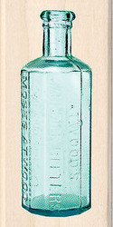 Vintage Bitters Bottle Wood Mounted Rubber Stamp by Inkadinkado NEW