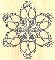 Vintage Scissor Snowflake Wood Mounted Rubber Stamp Impression Obsession NEW