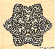 Vintage Snowflake, Wood Mounted Rubber Stamp IMPRESSION OBSESSION - NEW, D13066