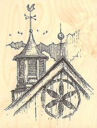 WEATHERVANE Wood Mounted Rubber Stamp Impression Obsession Stamp H1713 NEW