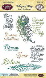 Whisper Of Wings Collection 9 Clear Unmounted Rubber Stamps by JustRight NEW