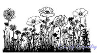 Wild Flowers Mixed Media Cling Unmounted Rubber Stamp IndigoBlu Stamp NEW