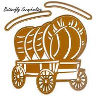 WILD WEST Dies Covered Wagon Craft Die Cutting Dies Joy! Crafts 6002/0422 New