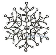 Winter Small SNOWFLAKE Wood Mounted Rubber Stamp NORTHWOODS A9885 New