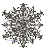 Winter Snowflake Design Wood Mounted Rubber Stamp Northwoods Rubber Stamp New