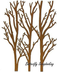 Winter Trees Background Die Cutting Die by Impression Obsession DIE310-XX New
