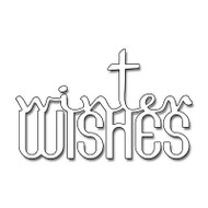 Wintertime Wishes Text, Steel Cutting Dies PENNY BLACK - NEW, 51-079
