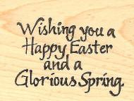 Wishing You A Happy Easter, Wood Mounted Rubber Stamp NORTHWOODS - NEW, E2485