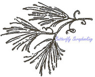 Wispy Pine Branch Wood Mounted Rubber Stamp NORTHWOODS C8303 New