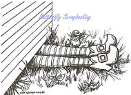 Witch's Legs Under House, Wood Mounted Rubber Stamp NORTHWOODS - NEW, P9578