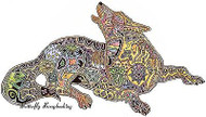 WOLF HOWL Animal Spirit Cling Unmounted Rubber Stamp EARTH ART Sue Coccia New