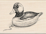 WOOD DUCK Wood Mounted Rubber Stamp INKADINKADO New