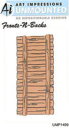 Wood Fence Unmounted Rubber Stamp with Cushion AI Art Impression NEW