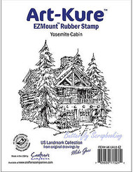 Yosemite Cabin Unmounted Rubber Stamp Landmark Collection Art-Kure AK-LM11-EZ