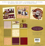 12X12 Scrapbooking Kit Perfect Pages Bohemian Bazaar 130 pieces Colorbok New