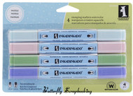 4 Stamping WATERCOLOR MARKERS Pastels INKADINKADO NEW