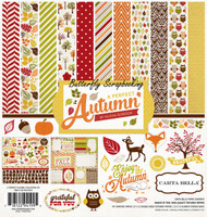 A Perfect Autumn 12X12 Scrapbooking Kit Carta Bella Paper Co. CB-PA34016 NEW