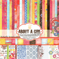 About A GIRL Collection Kit 12X12 Scrapbooking Kit FANCY PANTS Designs 114 New