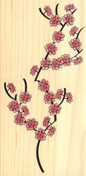 ASIAN Cherry BLOSSOMS Flowers Wood Mounted Rubber Stamp Stampabilities New