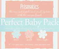 Baby 12x12 Cardstock Collection Scrapbooking Paper Pack 12 Sheets Prismatics New