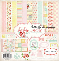 Baby Girl Collection 12X12 Scrapbooking Kit Carta Bella Paper Co Baby Mine NEW