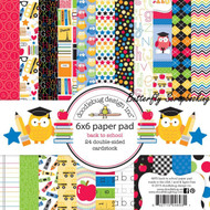 BACK TO SCHOOL Scrapbooking 6x6 inch Paper Pad Doodlebug 24 Sheets NEW
