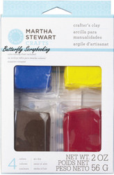 Basic Colors Crafters Clay Air Dry Martha Stewart Crafts Paper Crafting Clay NEW
