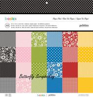 Basics Collection Scrapbooking 12X12 Paper Pad Pebbles 48 Sh American Crafts New