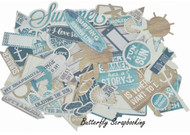 BEACH Sandy Toe Collectables Collection Scrapbooking 50 Die Cuts Kaisercraft NEW